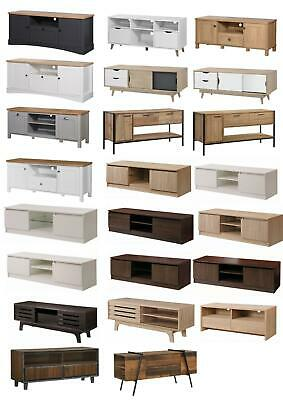 TV Unit Stand Media Cabinet Scandinavian Storage Living Room Furniture • 99.99£