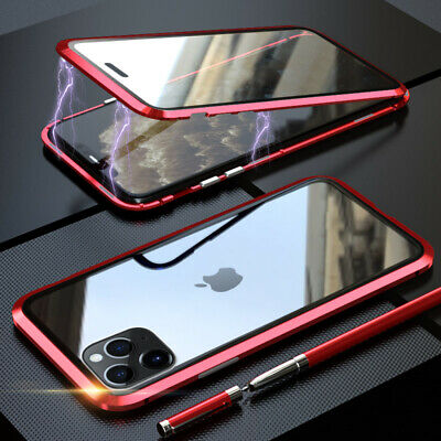 $ CDN8.85 • Buy 360° Magnetic Adsorption Metal Tempered Glass Back Case Cover For Smart Phone