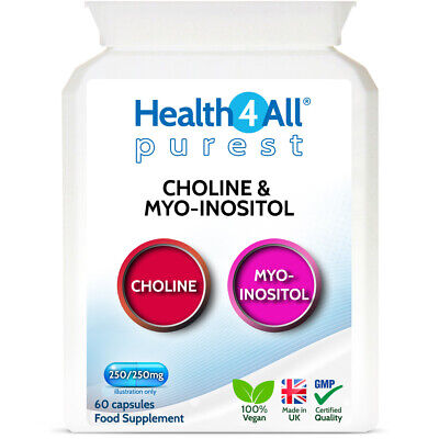 £8.99 • Buy Purest Choline & Inositol 250/250mg Capsules | LIVER HEALTH | MEMORY | LEARNING