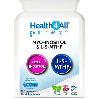 £12.99 • Buy Purest Myo-Inositol & 5-MTHF Capsules Aids PCOS And CONCEPTION | 1 MONTH SUPPLY