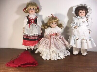 $ CDN33.82 • Buy Porcelain Dolls Music Box Lot-3, Brinn's '86, Zasan Vic. '87, Heritage Mint-'89