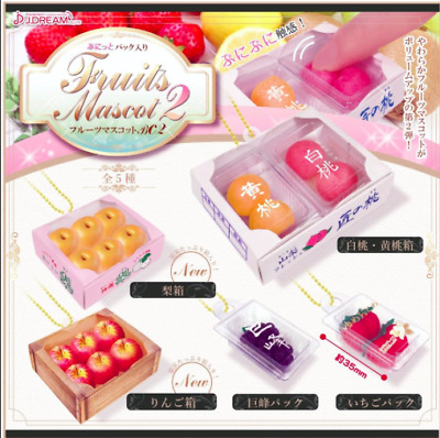 AU19.99 • Buy Mini 5 FRUITS Apple Peach Pear Squishy Phone Strap / Charm From Japan J Dream