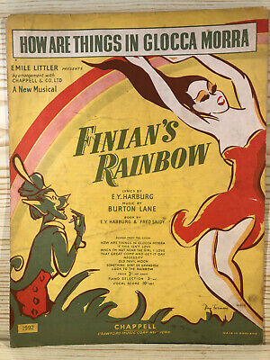 Vintage Sheet Music - How Are Things In Glocca Morra - Finians Rainbow-Very Rare • 6.95£