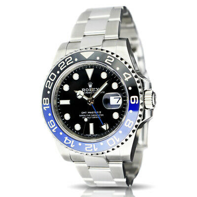 $ CDN21292.44 • Buy ROLEX - SS GMT Master II BATMAN Blue Black CERAMIC CARD 116710 BLNR - SANT BLANC