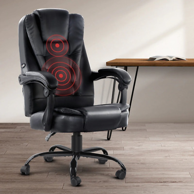 AU173.95 • Buy Artiss Electric Massage Office Chairs PU Leather Recliner Computer Gaming Seat B