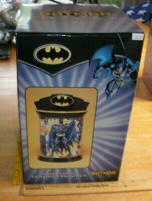 BATMAN Ceramic Cookie Jar Container MIB Warner Brothers 2000s Limited Edition • 57.85£