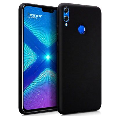 £2.62 • Buy Cover For Huawei Honour 8X Gel TPU Silicone Rubber Black Colour Black Lisa Case