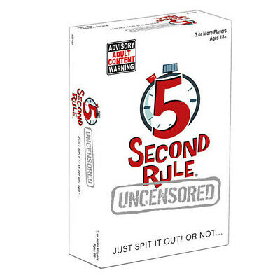 AU25.95 • Buy 5 Second Rule Uncensored Card Game NEW