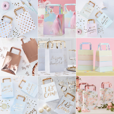 £5.99 • Buy Paper Party Gift Bags With Handles Hen Party Wedding Gold Favours Keepsake