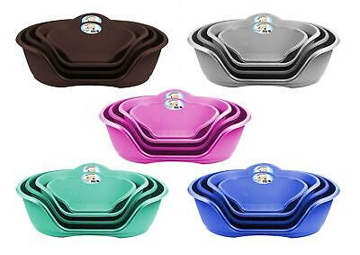 Plastic Dog Bed Heavy Duty Waterproof Dog Bed Pet Bed Puppy Cat Cushion Basket • 17.99£