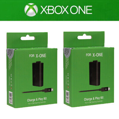 2Pack For Official Microsoft XBOX ONE Controller Play & Charge Kit 1400mAh • 13.49$