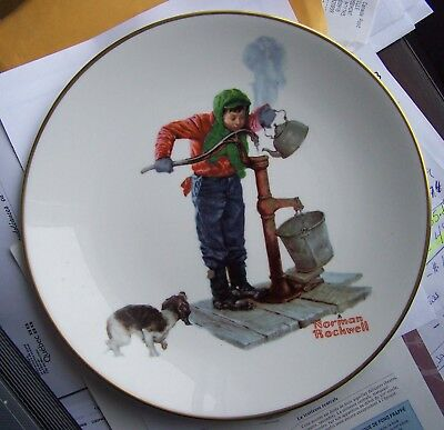 $ CDN25.50 • Buy Norman Rockwell Chilling Chore 10 1/2  Plate 1977 Limited Edition Free Shipping