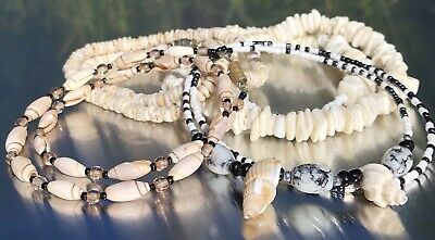 $ CDN66 • Buy Vintage Surfer Necklace Lots Sea Shell Puka Chip Shell & Seed Beads