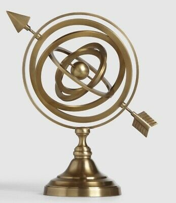 Gold Metal Armillary Sphere Celestial Globe W/Graduated Rings, Handcrafted, 11 H • 37.50$
