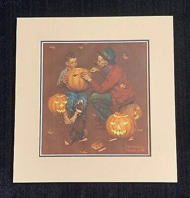 $ CDN466.69 • Buy Norman Rockwell Signed  Pumpkin Carving