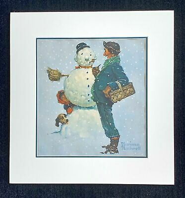 $ CDN503.98 • Buy Norman Rockwell Signed  Snowman