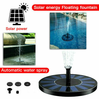 £9.69 • Buy 200L/H Solar Feature Fountain Submersible Water Pump Outdoor Garden Pool Pond