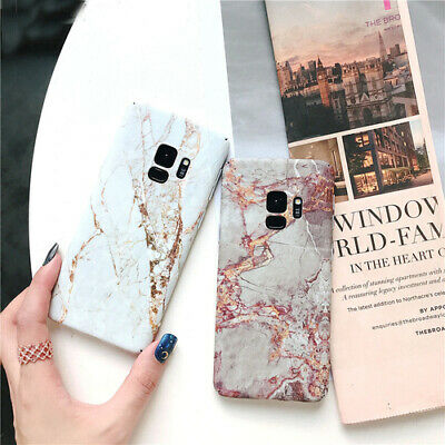 $ CDN3.93 • Buy Marble Matte Hard PC Cover Phone Case For Samsung Galaxy S7 S8 S9 S10 Plus