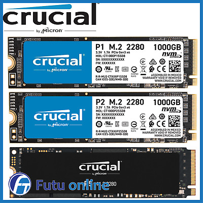 AU144 • Buy 500GB 1TB Crucial P1 SSD M.2 PCIe NVME Internal Solid State Drive 2000MB/s