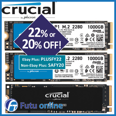 AU89 • Buy 500GB 1TB SSD Crucial P1 P5 M.2 PCIe NVMe Internal Solid State Drive BRAND NEW