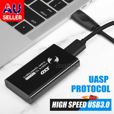 AU13.95 • Buy Mini MSATA To USB 3.0 2.0 SSD External Enclosure Converter Adapter SSD Case Box