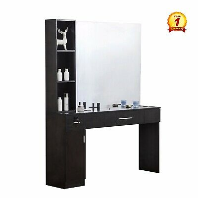 $345.94 • Buy Barber Salon Station Makeup Wall Mount Spa Beauty Equipment (With Mirror)