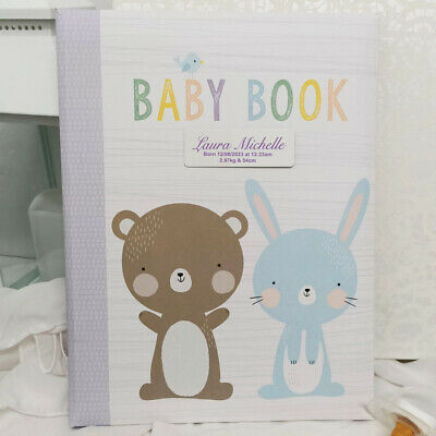 AU40 • Buy Baby 5yr Record Book - Personalised Plaque - Personalised Custom Gift