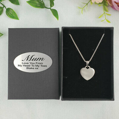 AU30 • Buy Mum Heart Pendant Necklace In Personalised Box