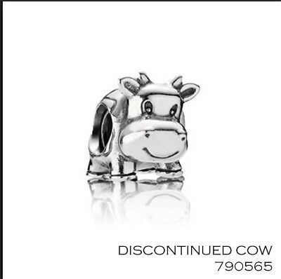 AU42.49 • Buy PANDORA Charm Sterling Silver ALE S925 RETIRED COW  790565