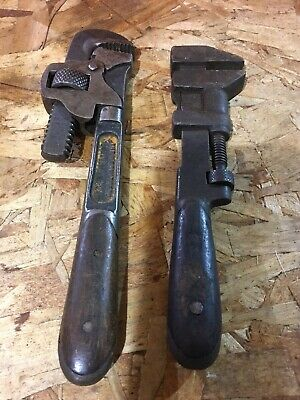 AU58.17 • Buy 2 Vintage H.D. Smith & Co Perfect Handle Wood Handle Pipe Wrenches 9  & 10