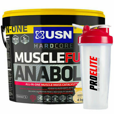 USN Muscle Fuel Anabolic All In One Gainer 4.2Kg + Free Shaker • 47.95£