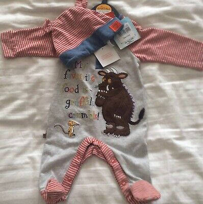 1st Month Gruffalo  Baby Romper And Hat New With Tags • 5£