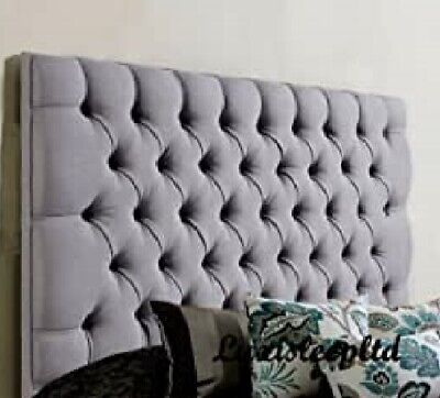 Beautiful Design Tulip  Headboard Finished In Turin/Linen Fabric 26'' Height  • 39.99£