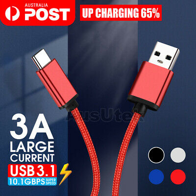 AU6.99 • Buy Heavy Duty Fast USB C 3.1 Type-C Data Sync Charger Cable Samsung A20 A30 A50 A70