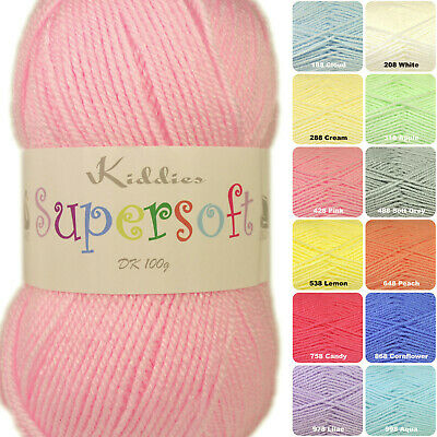 Cygnet Kiddies Supersoft DK Baby Knitting Yarn 100g - Full Range Of Shades • 2.79£
