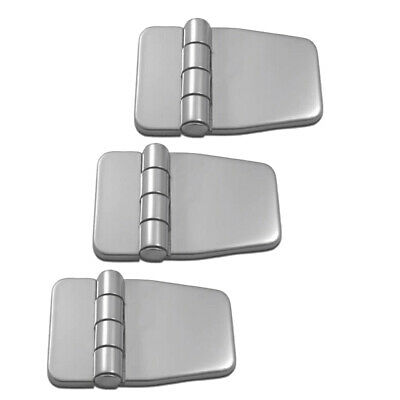3Pcs Marine Boat Hinges Folding Stainless Door Cabinet Strap Hinges & Cover • 13.07£