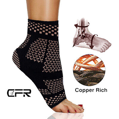 £7.59 • Buy Copper Ankle Support Brace Compression Achilles Tendon Strap Foot Sprains Injury