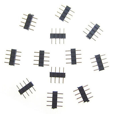 $1.19 • Buy 10x 4-Pin Male Plug Adapter Connector For RGB 3528 5050 SMD LED Strip Light NEW
