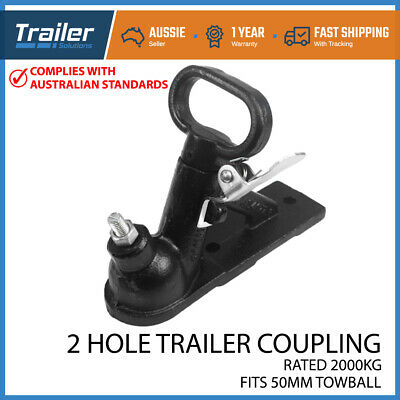 AU29.95 • Buy Trailer Hitch 2 Hole Quick Release Coupling Black 50mm 2t Adr Tested