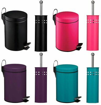 £24.95 • Buy Premier Housewares Stainless Steel Toilet Brush And 3L Pedal Bin Sets