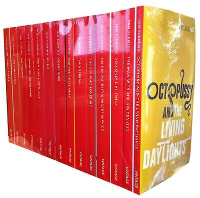 Vintage 007 James Bond Collection Ian Fleming 14 Books Set Casino Royale NEW • 79.99£