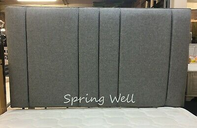 Chenille Fabric Upholstered Tulip Headboard Black,Light Grey 26''/30''/36''/44'' • 27.99£
