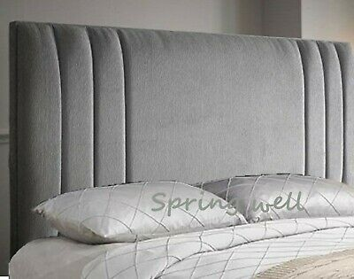 Chenille Fabric Upholstered Sidebar Headboard 26''/30''/36''/44'' In All Colours • 39.95£