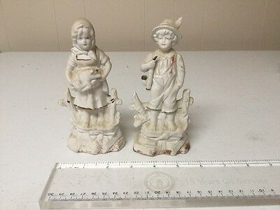 $ CDN13.25 • Buy Pair Vintage Gentleman Lady 6  Porcelain Figurines