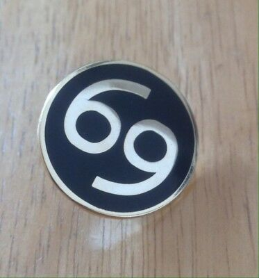 Number 69 Motorcycle Biker Cafe Racer Rocker Bike Pin Badge • 3.99£