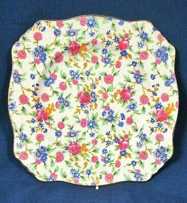 $ CDN47.48 • Buy 2-Royal Winton Grimwades Old Cottage Chintz Ascot Sq 8  Salad Plates Pre-1960's