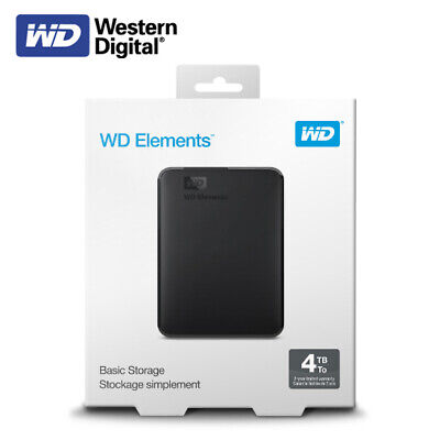 AU166.42 • Buy WD 4TB Elements Portable External Hard Drive - USB 3.0 - With Tracking