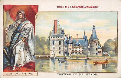 $ CDN18.14 • Buy US3206 France Chateau De Maintenon Castle Boat Lake Bateau Litho Chocolate