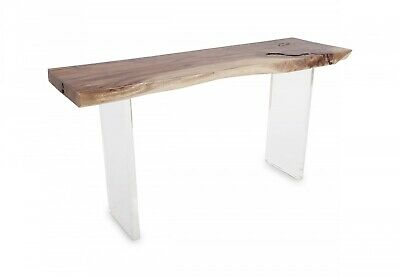 $5600 • Buy 60  Long Floating Acacia Solid Wood Console Table Acrylic Base Resin 142
