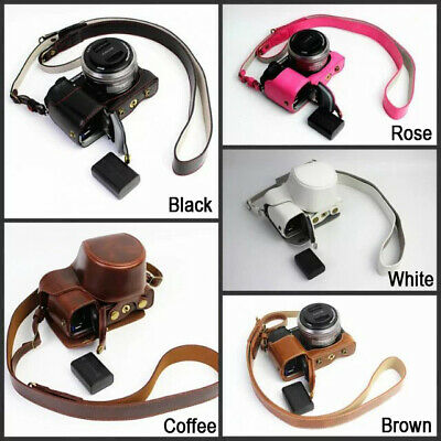 AU27.30 • Buy HQ Leather Camera Bag Case Strap For Sony A6400 A6300 A6100 A6000 With 16-50mm